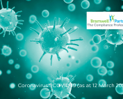 Magnified image of a virus | Featured image for COVID 19 blog.